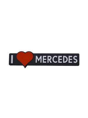 ΣΗΜΑ AYTΟΚΟΛΛΗΤΟ I LOVE MERCEDES