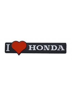 ΣΗΜΑ AYTΟΚΟΛΛΗΤΟ I LOVE HONDA