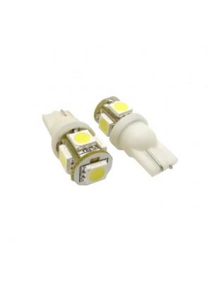 LED ΑΠΛΑ T10 12V 5pcs 5050SMD
