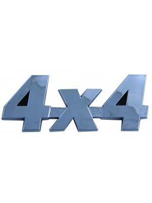 ΣΗΜΑ 4X4 CHROME 3D
