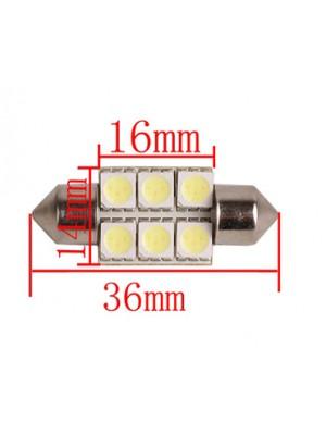 LED ΑΠΛΑ ΣΩΛΗΝΩΤΑ 12V 6pcs FLUX 36mm