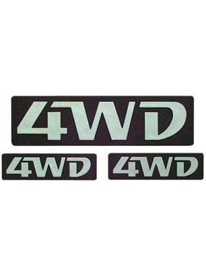 ΣΗΜΑ ΑΥΤΟΚΟΛΛΗΤΟ 4WD ΑΣΗΜΙ III